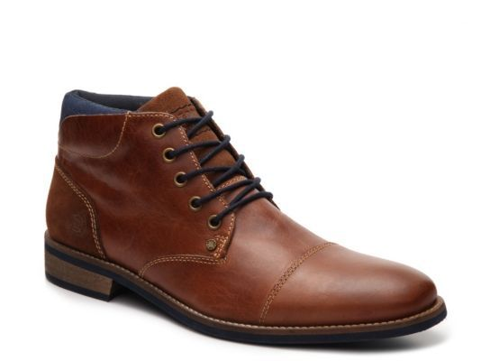 Men's Bullboxer Tapps Cap Toe Chukka Boot - Cognac - mens boot shoes online, good mens shoes, mens brown casual dress shoes
