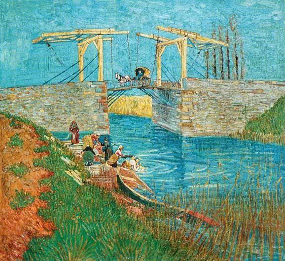 Vincent Van Gogh - Post Impressionism - Arles - Le pont de Langlois 2