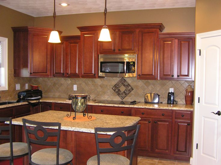 """Maple Cabinets By Aristokraft In """"Rouge"""""""