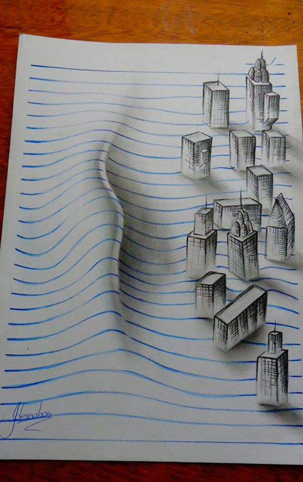 15-year-old João A. Carvalho challenges your perceptions and creates incredible three-dimensional drawings that leap out of the page at you.