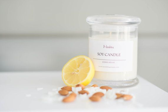 Moohive Pure Soy Candle  Tropical Coconut  Almond Milk  by Moohive