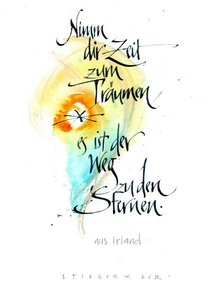 Aquarell and cursive calligraphy -- www.schrift-art.ch