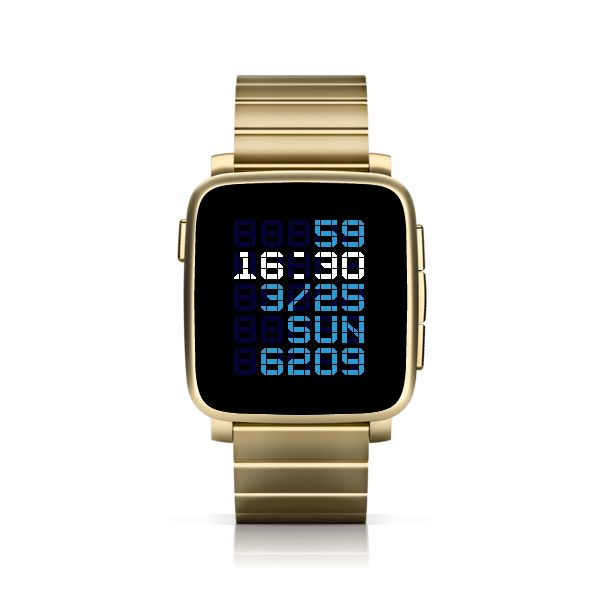 TTMMBRN for Pebble Time Steel #PebbleTime #PebbleTimeSteel #Pebble #watchface #ttmmaftertime