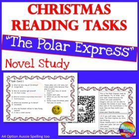 Grade / Year Level :: Primary Education :: Year 3 - 6 :: CHRISTMAS READING Activities Literacy Centre Polar Express Tasks