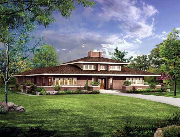 Prairie Style Southwest House Plan 99288