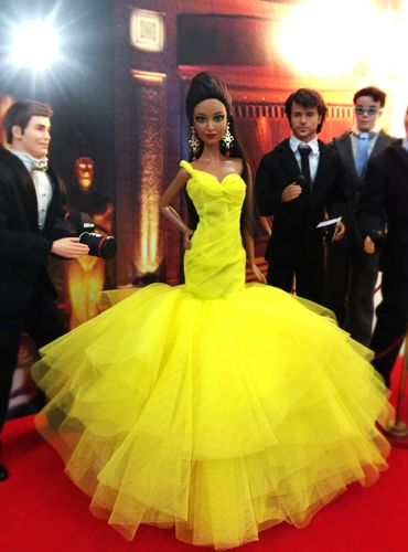 barbie doll gowns / 36 qw