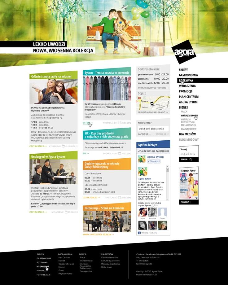 www.agorabytom.pl - website design