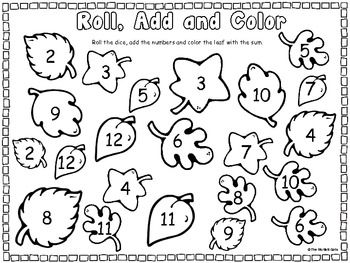roll and color leaves