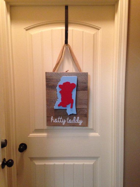Ole Miss Rebel Door Hanger
