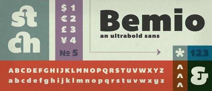 Fonts  BEMIO Lost Type Co-op   Bemio