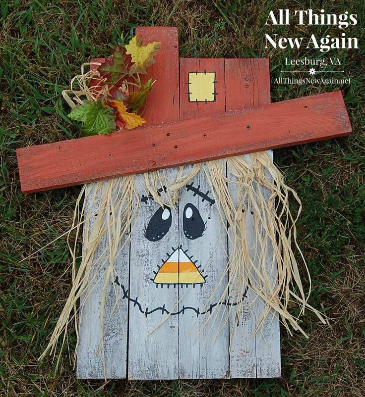 Pallet Wood Scarecrow 1 1/2 hours $35 per person (includes all materials and instruction to complete project) Have you checked out Pinterest lately? Scarecrows are EVERYWHERE! Here's our version---...