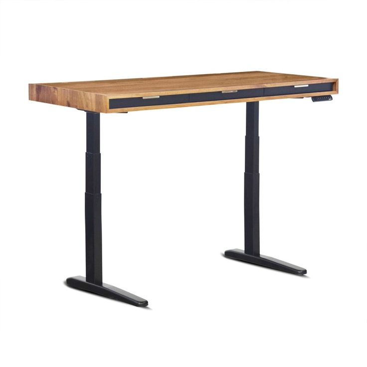 """A sleek interpretation of the classic Dimensions: 27"""" deep x 60"""" wide. Adjustable 26.75"""" to 52.25"""" height. Looking for high-design and sit/stand functionality with minimalist storage? Slim is made for"""
