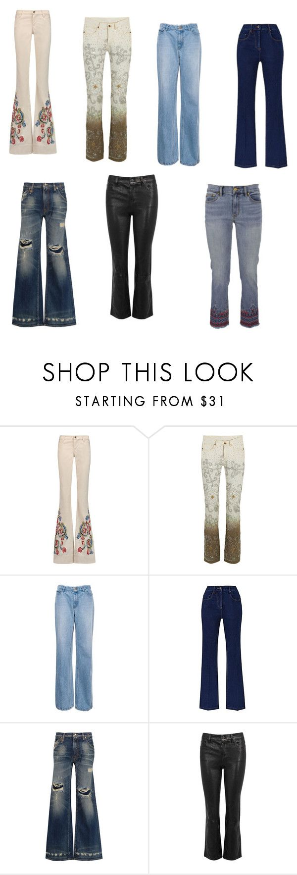 """""""Jeans"""" by elisethe on Polyvore featuring moda, Alice + Olivia, Ashish, R13, J Brand e Tory Burch"""