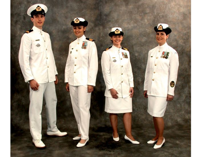 Navy full dress blue uniform