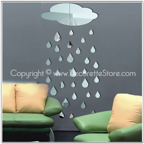 Qoo10 - Mirror Wall Stickers/Decals -Home DIY Decor (Choose from 16 Designs) : Home Decor / DIY  Retail: $25 8/5/14 Ship: $10 Free shipping over $39.80 various designs same prices
