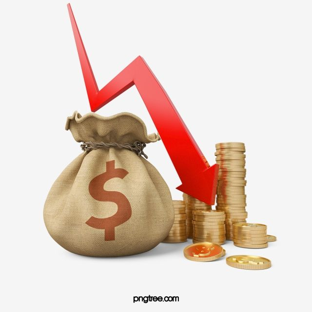 Purse Gold Equity Market Fall Economics Stereoscopic 3d Golden Metallic Red Gold Coins Money Bag Money Clipart