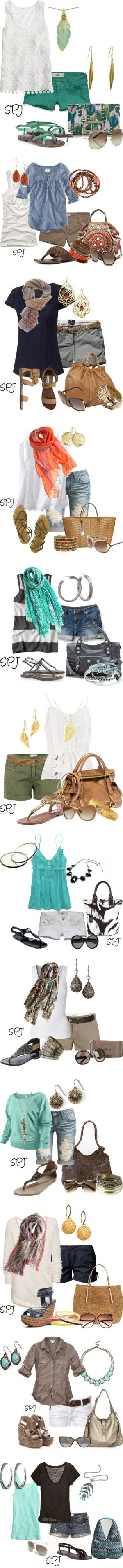 Summer outfits.