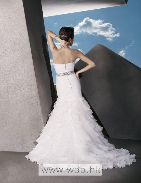 Attractive sleeveless trumpet / mermaid floor-length bridal gowns $328.98