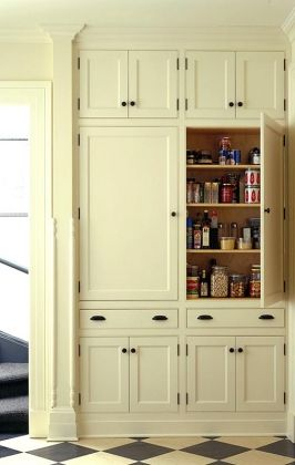 pantry cabinet. good idea for homes without walk in pantry.