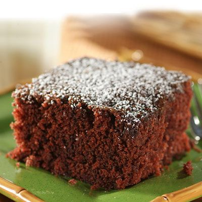 "Crazy Cake -This recipe also goes by the name of ""Wacky Cake"". Research tells us this very moist chocolate cake recipe was developed sometime in the 1940's and was quite popular due to it not having eggs, butter or milk and mixing it all in the pan. A very moist, easy-to-prepare chocolate cake that goes great with a cold glass of milk!"