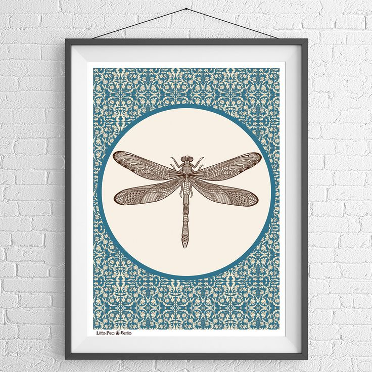 Beautiful dragonfly print