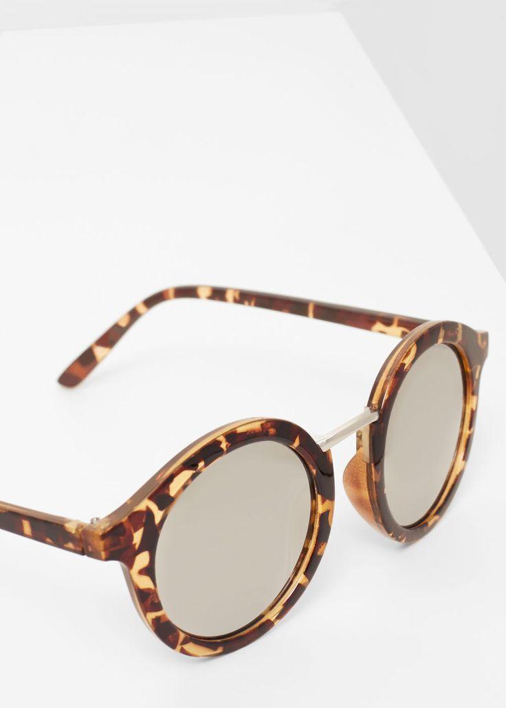 Ronde zonnebril met spiegelglazen   MANGO