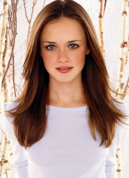 Maybe if I could stick it out growing this stuff for about 3 more inches and then had someone to come style my hair every morning.   Alexis Bledel - Rory Gilmore