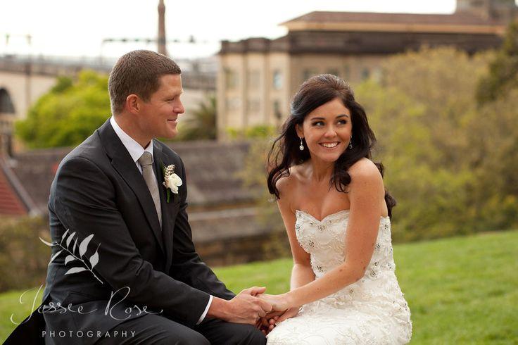Ash & Rob @ Jessie Rose Photography #springwedding #wedding #photography #weddingphotography #jessierosephotography #bride #groom #sydney #kiss #australia #observatoryhill #springwedding #spring #laughter