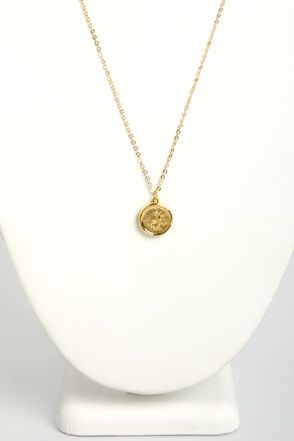Just My Typewriter Gold J Necklace at LuLus.com! I'd wear this J proudly. It's so bold in gold! #lulus #holidaywear