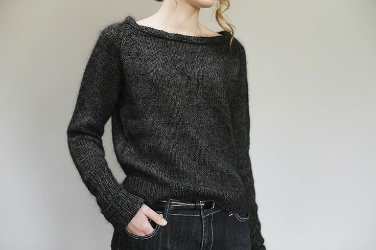 Garance pullover sweater pattern by Julie Hoover (knitting, bottom-up, seamless)