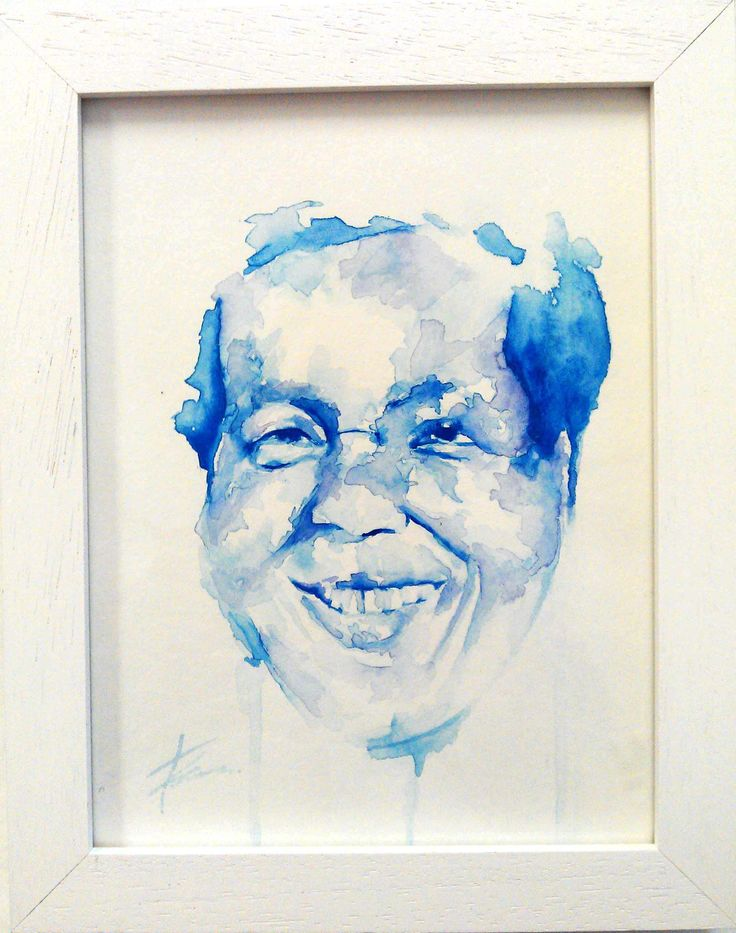Adelaide's mum, watercolour portrait by Tasneem Kamies for KIN on Kloof's Mother's Day window exhibition  For more info on this exhibit- http://bit.ly/1rBb0yS  kinshop.co.za - growing local art & design