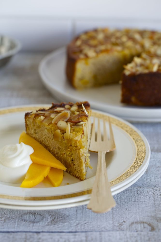 Tropical Fruit and Almond Cake