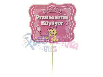 Prenses Doğum Günü Konuşma Balonları 2 Adet