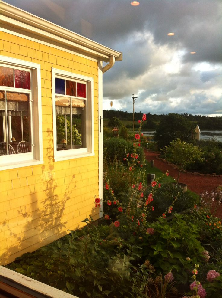 Enjoying the gorgeous gardens while dining at The Preserve Company, New Glasgow, PEI (Taken by M. Cotter)