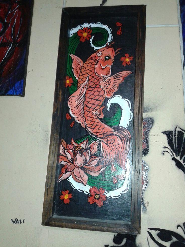 Pintura en madera...koi