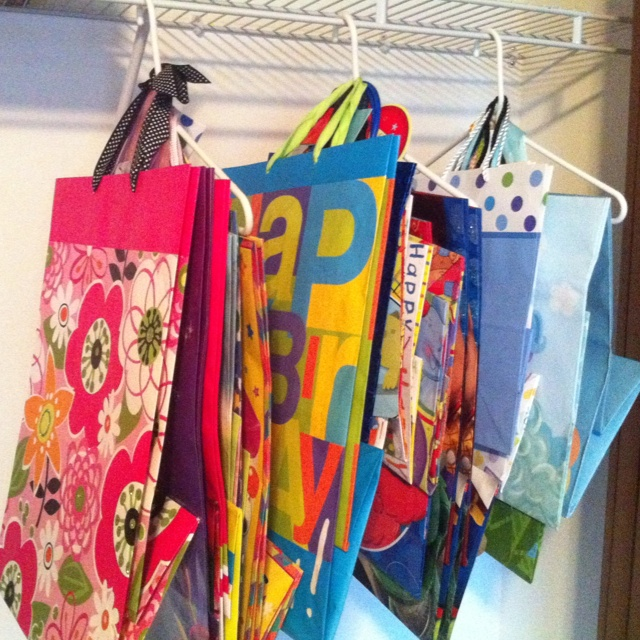 Way Easier To Find Gift Bags Now! I Have Them Hanging In A Closet U0026