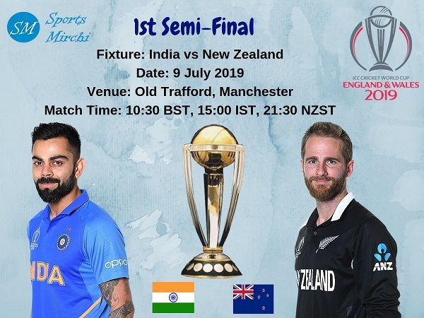 Ind Vs Nz 2019 Cricket World Cup Semi Final Preview Win Predictions World Cup Semi Final Semi Final Cricket World Cup