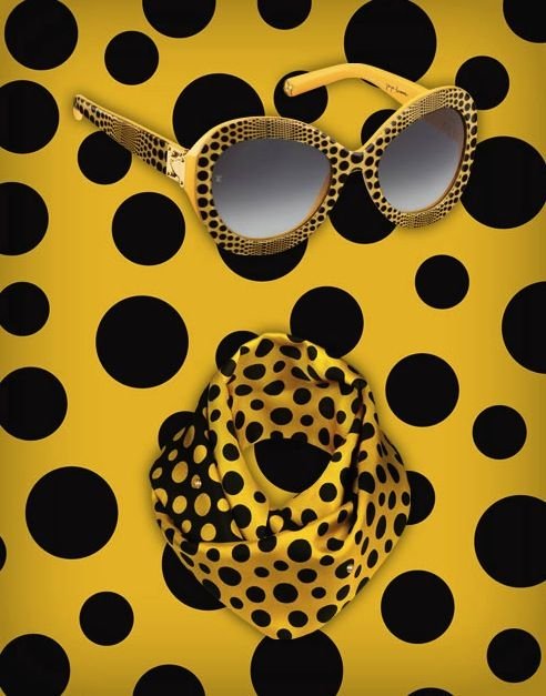 Polka dot overload! More from Louis Vuitton and Japanese artist Yayoi Kusama. This time in bumblebee yellow and spotted black.
