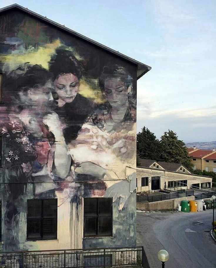 New Street Art by Bosoletti found in Italy   #art #graffiti #mural #streetart…