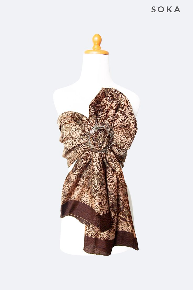 Brown Batik Sarong Multifunction #sarongs #batik #womenfashion