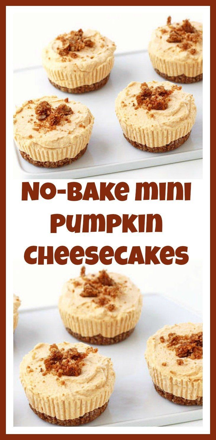 Serve these No-Bake Mini Pumpkin Cheesecakes frozen or chilled. These fall desserts are so quick and easy to make that you'll want to serve them again and again.