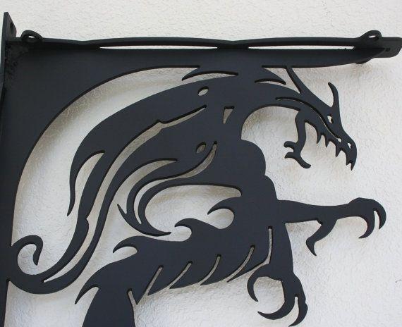 SALE SALE Dragon  Metal Shelf Brackets set of 2 SALE by fttdesign, $125.00
