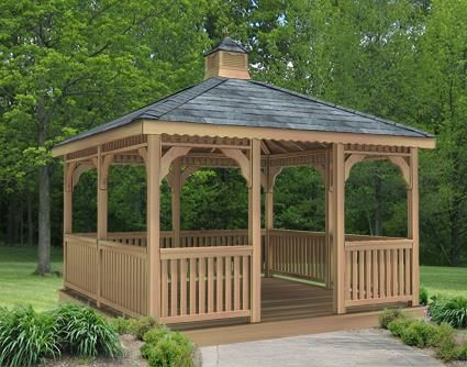 10' x 10' Cedar Rectangular Gazebo