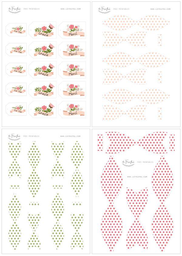 Fiocco free printable, bow free printables
