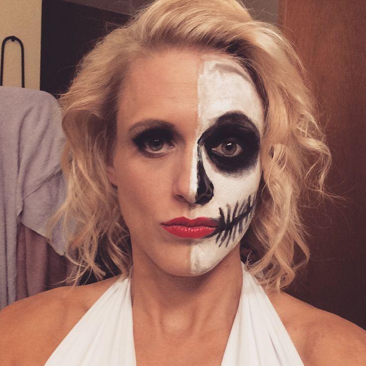 Marilyn Monroe half-skull face