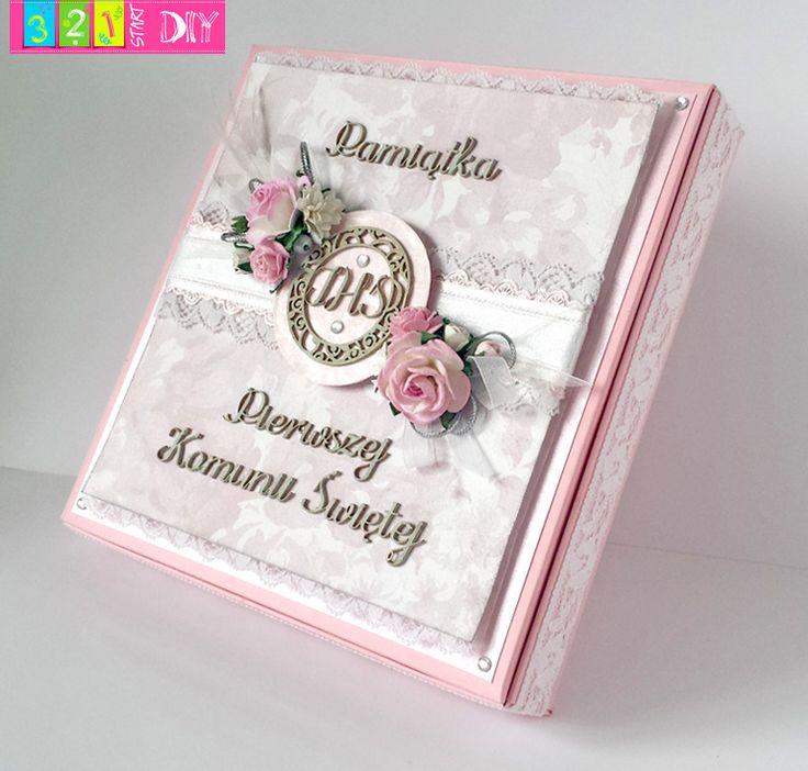 321 Start DIY: Komunijne pudełko z rózami; Pierwsza Komunia; First Holly
