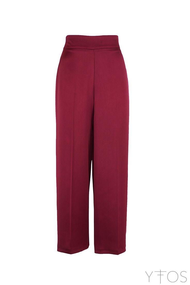 Yfos Online Shop   Clothes   Pants   Satin Cropped Pants by Milkwhite