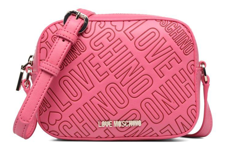 Love Moschino Embossed logo Crossbody Roze - Handtassen bij Sarenza.be (284113)