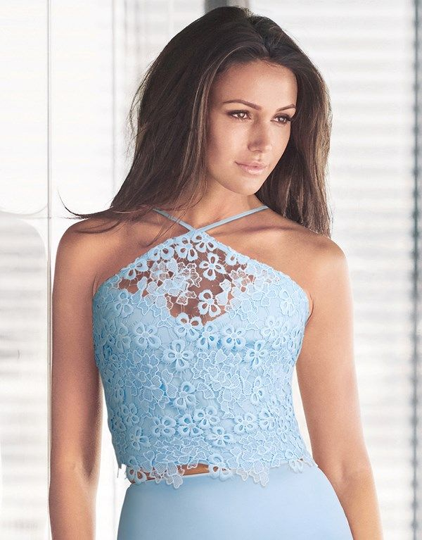 Lipsy Love Michelle Keegan Lace Co-ord Cami Halter Top
