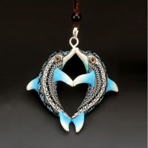 Dolphin Pendant Necklace | Jon Anderson | FimoCreations